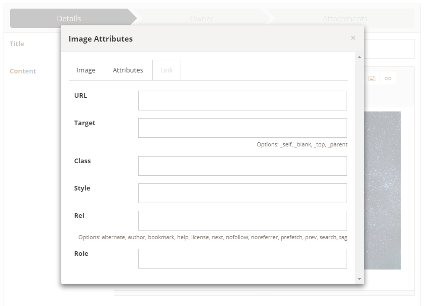 Front-office publishing - editing image link