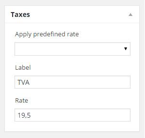 Manage invoice taxes