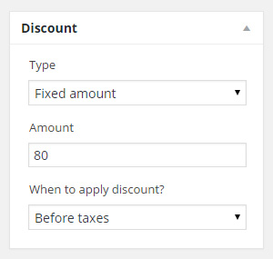 Invoice discount
