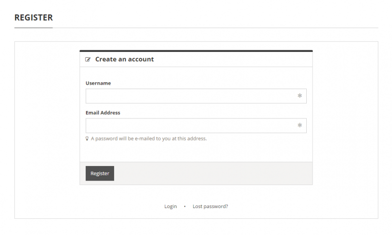 authentication Forms -