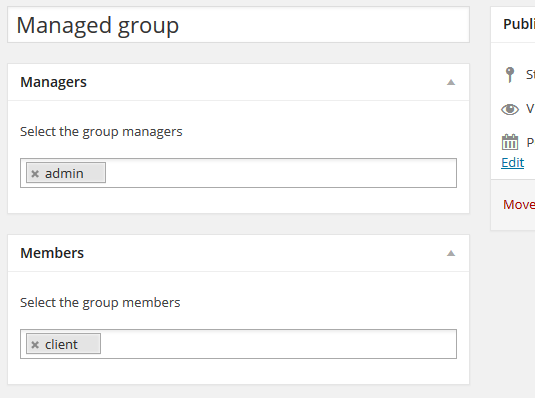 Managed Groups - the admin UI allowing you to create managed groups