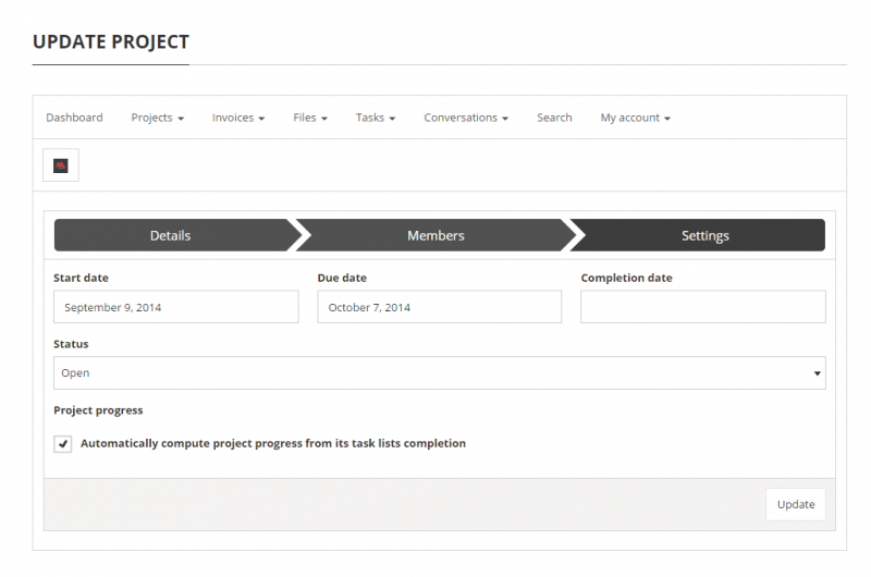 Projects - project edition page (2/2)