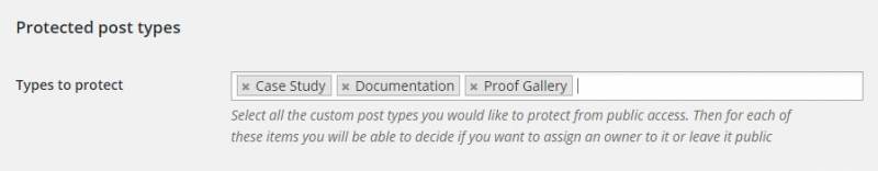 Protect Post Types - pick the post types to protect from the settings