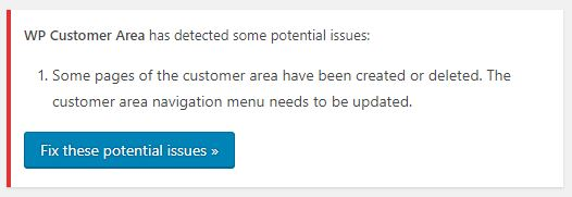 Add Terms of Service page to the menu – WP Customer Area