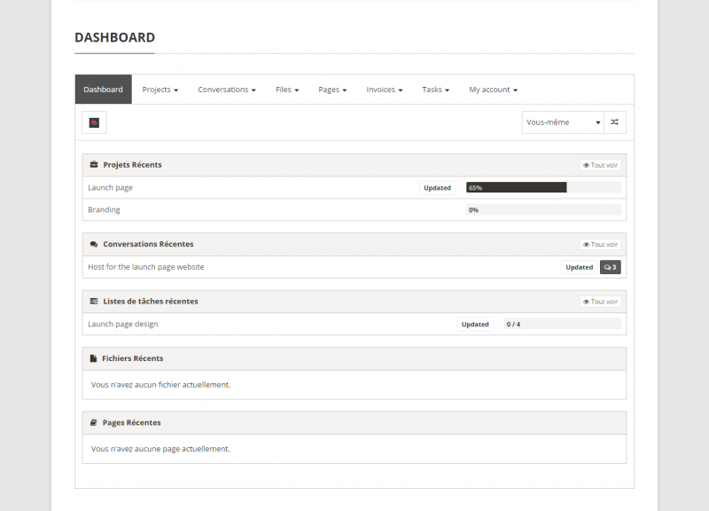 Unread Documents - tags on dashboard page